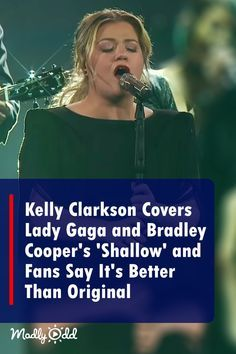Kelly Clarkson's 'Shallow' Cover Salutes Lady Gaga's 'A Star Is Born' Hit Lady Gaga sings this song in the movie with Bradley Cooper as a duet and it has been nominated for several awards. Kelly Clarkson did Music Love, Good Music, My Music, Country Music Videos, Country Music Singers, Hit Songs, Music Songs, Kelly Clarkson Lyrics, Lady Gaga Song