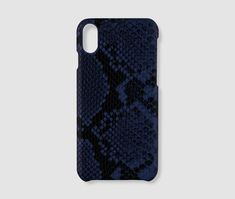 iPhone XS Max Case - Blue Snake - Pu-leather / 5.65 x 2.79 x 0.30