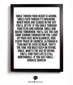 SMILE. I love this! Such a great song! To my friends going through things, just read this