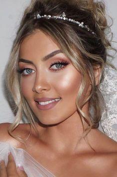 30 Idee per il trucco di nozze per gli occhi azzurri