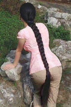 Beautiful Braids, Beautiful Long Hair, Indian Hairstyles, Braided Hairstyles, Rapunzel, Blonde Hair Black Girls, Indian Long Hair Braid, Queen Hair, Super Long Hair