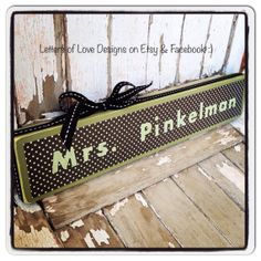Teacher Thank You Gift Wood Sign  Custom end of the year present for your child's teacher.  Appreciation