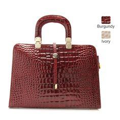 Marlafiji Sally Croc Patent Leather Handbag