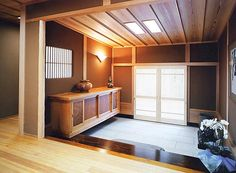 Japanese traditional house, Genkan(entrance hall)日本家屋 玄関