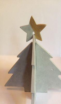 Merry Christmas -Baum Feinbeton mit goldenen Stern von Das Eine und Das Andere auf DaWanda.com