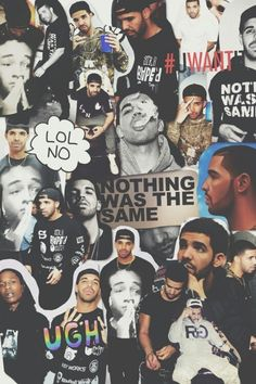 Classic snap iphone 4 4s case beyonce collage iphone 4 - Drake collage wallpaper ...