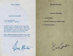 Die Burger Rezepte von Dean Martin und von Frank Sinatra | Das…
