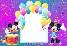 Find the desired and make your own gallery using pin. Mickey Mouse clipart frame - pin to your gallery. Explore what was found for the mickey mouse clipart frame Happy Birthday Mickey Mouse, Minnie Mouse Birthday Decorations, Happy Birthday Frame, Birthday Photo Frame, Mickey Mouse Christmas, Birthday Frames, Birthday Background, Happy Birthday Images, Birthday Pictures