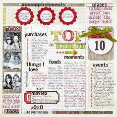 Faire des listes. Mélanger les timbres, rubans, autocollants pour les rendre visiblement attrayantes