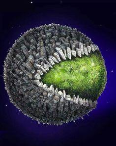 Pac Man da destruição