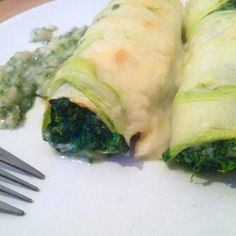 spinach cannelloni - vegan / low carb