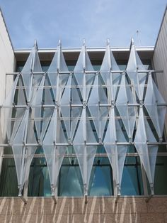 Structurflex's Tensile ETFE Facade Screening Elements for the US Embassy in Laos #sustainablearchitecture