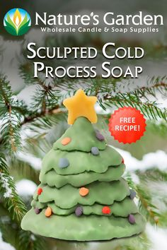 Sculpted Cold Process Soap Recipe by Natures Garden.