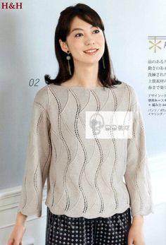 Пуловер волнистым узором (спицы). Обсуждение на LiveInternet - Российский Сервис…