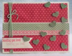 Simple Valentine's Day card! Check out my blog for project details!! :)  scrapbookscraftscards.blogspot.com