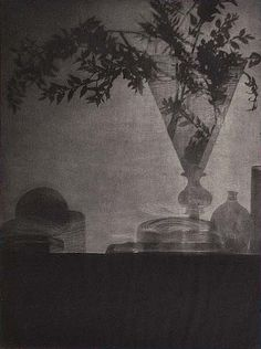Baron Adolf De Meyer (American, 1868 – 1949)  'Glass and Shadows'  1905  Photogravure  Image: 8 3/4 x 6 9/16 in.  Accession No. 84.XP.463.22  Object Credit: The J. Paul Getty Museum, Los Angeles