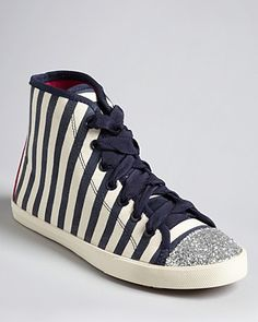 kate spade new york Cap Toe High Top Sneakers - Lorna | Bloomingdale's