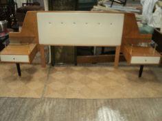 1950s G Plan Brandon Chinese White Range E G GOMME Bedside Tables & Headboard