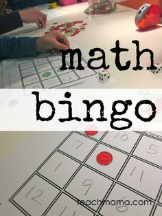 Math bingo is fun way to practice math facts! When you make learning fun, it creates a love for education in young kids! Use this math bingo game to help your students or kids learn math facts! #teachmama #math #learningmath #games #mathactivities #teachingmath #elementary #activities #gamesforkids