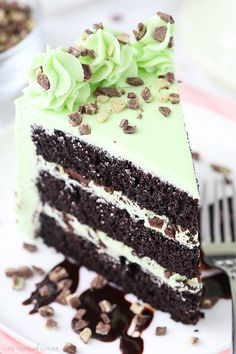 Mint Chocolate Chip Layer Cake