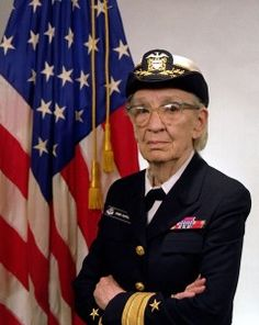United States Navy Admiral Grace Hopper (1906–1992) was one of the first programmers in the history of computers.