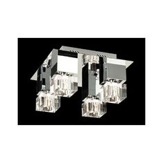 "Charm Chrome and Glass 14"" Wide Ceiling Light Fixture - #H3946 | LampsPlus.com"