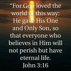 John 3:16 HCSB