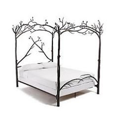 I love this canopy bed. Simple and organic.