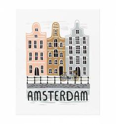 Rifle Paper Co. Amsterdam Bon Voyage Print