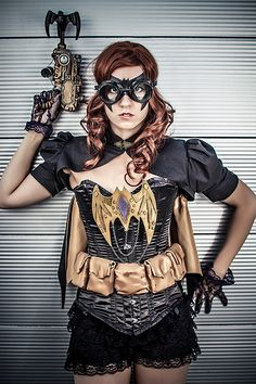 I will have to hide this concept from my daughter~ she would go crazy!  Comic Con 2013 - Steampunk batgirl