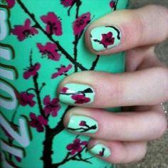 Arizona Green Tea Nails. Great how-to on www.youtube/cutepolish