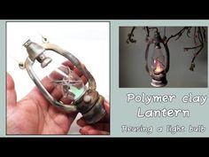 Polymer clay lantern- reusing a light bulb