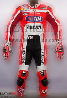 Nicky Hayden Ducati MotoGP 2012 Race Leather Suit Nicky Hayden Ducati MotoGP 2012 Race Leather Suit: top grain cowhide leather 1.2 – 1.3 mm thickness, Stretchable Cordura placed at specific areas by M   http://leatheride.com/nicky-hayden-ducati-motogp-2012-race-leather-suit/  #DucatiMotoGP2012, #NickyHayden, #RaceLeatherSuit #RaceSuits