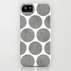 gray polka dots iPhone & iPod Case by Her Art - $35.00
