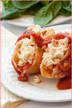 Turkey and Artichoke Stuffed Shells with Arrabbiata Sauce Recipe Spinach Stuffed Shells, Stuffed Shells Recipe, Pasta Dishes, Food Dishes, Pasta Meals, Turkey Dishes, Ground Turkey Recipes, Recipe Details, Cheap Meals