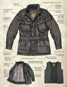 Belstaff Trialmaster Motorcycle wax cotton jacket black