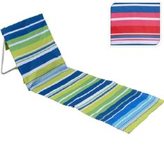New Portable Folding Beach Lounger Mat Outdoor Garden Fishing Camping Deck Chair