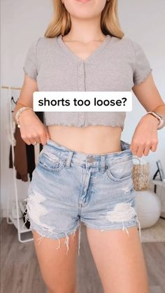 Cute Summer Outfits, Cute Casual Outfits, Short Outfits, Diy Clothes Life Hacks, Clothing Hacks, Girls Fashion Clothes, Teen Fashion Outfits, Teenage Girl Outfits, Diy Fashion Hacks
