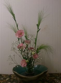 Ikebana, The Japanese art of flower arrangement.