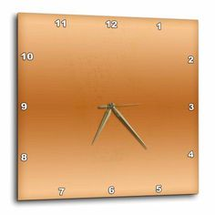 3dRose Copper Print, Wall Clock, 13 by 13-inch