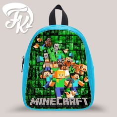 daa59b172a Minecraft Family Design Kid School Bag Backpacks for Child Minecraft  Backpack