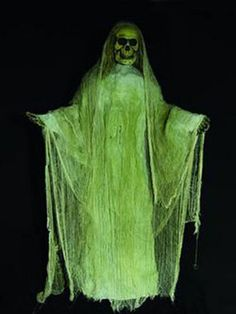 1,75m Schwarzlicht Zombie Dekoration Halloween Gelb  #blacklight #schwarzlicht #halloween #party #deco #glowinthedark #fluo #psy #ghost