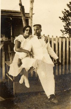 My grandmother's sister, Rosario (Saro) Cruz Ortiz, and her husband Andres Salazar.
