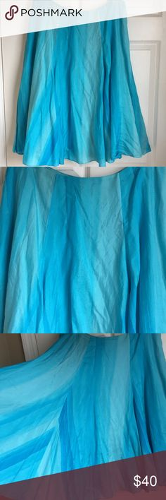 """Gorgeous! Lauren Ralph Lauren Turquoise Silk Skirt Be sure to add free gift selection to bundle. 😊 They are towards the bottom of my available listings.   Gorgeous Lauren Ralph Lauren 100% Silk Crinkle Pleated Skirt with Hidden Zipper Has lining Color: Turquoise Blue Size: 10 Petite (26"""" long, I'm not petite and it fell just below the knee) Perfect for Easter, party or special event!   Save on a bundle! Lots of clothes, bags, jewelry and new boutique items. Great for gift giving. I love…"""