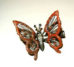 Vintage 1960's Butterfly Barrette Hair Clip
