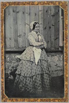 Hermann Carl Eduard Biewend, Helene at my Father's Farm in Rothehütte (Outside the Administrator's Quarters), September 1849, daguerreotype, 16.6 x 11 cm half-plate; image: 15.3 x 9.8 cm sight, National Gallery of Canada