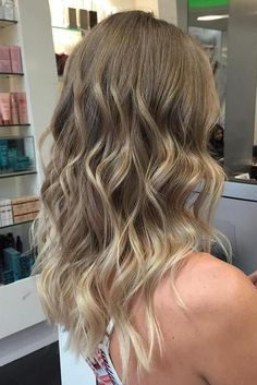 blonde balayage highlights for medium hair. Like the style but not the color - too ashy