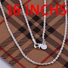 Necklace sterling-silver-jewelry hot brand new fashion popular chain necklace jewelry qayu LN226-16♦️ SMS - F A S H I O N 💢👉🏿 http://www.sms.hr/products/necklace-sterling-silver-jewelry-hot-brand-new-fashion-popular-chain-necklace-jewelry-qayu-ln226-16/ US $0.89