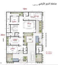House Floor Plans, Villa, Diagram, Room Decor, Backyard, Outdoor, Flooring, How To Plan, Rooms