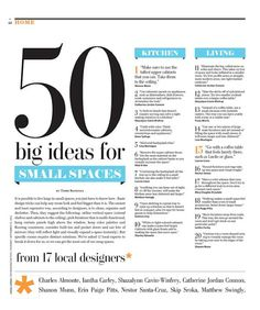 50 big ideas for Small Spaces
